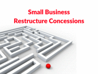 Small business restructure roll-over concessions